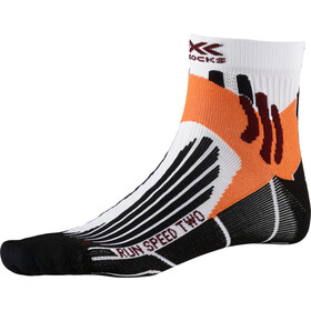 X-Socks Run Speed Two Calcetines Running Hombre, arctic white/opal black